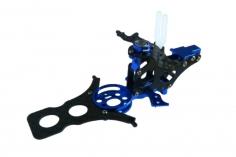 Rakonheli Hauptrahmen aus Carbon in blau für T-REX 150