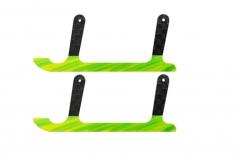 Rakonheli Landekufen aus Carbon für Rakonheli Landegestell schwarz grün für T-REX 150