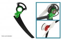 Rakonheli Heckmotorhalterung aus Alunimium in grün für T-REX 150