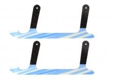 Rakonheli Landekufen aus Carbon für Rakonheli Landegestell schwarz blau für T-REX 150