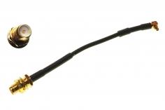 FPV Antennenadapter MMCX auf RPSMA (mit Pin) mit Haltering ca. 10cm