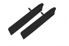 Rakonheli Hauptrotorblätter aus Kunstsotff 116mm in schwarz für T-REX 150