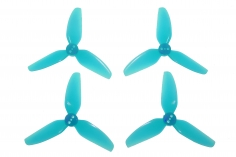 HQ Durable Prop Propeller 2,5X3,5X3 aus Poly Carbonate in blau transparent je 2CW+2CCW