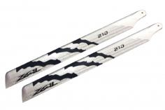 ZEAL Carbon Hauptrotorblätter 210mm in silber und schwarz