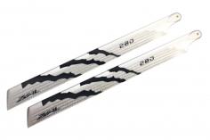 ZEAL Carbon Hauptrotorblätter 280mm in silber und schwarz