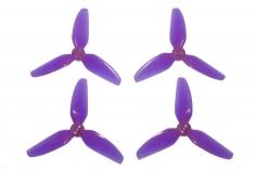 HQ Dreiblatt Propeller Durable Prop T3x3x3 aus Poly Carbonate in transparent violet je 2x cw und 2x ccw