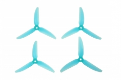 HQ Durable Prop Propeller 6X4X3V1S aus Poly Carbonate in blau transparent je 2CW+2CCW