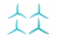 HQ Durable Prop Propeller New 5X4,8X3V1S aus Poly Carbonate in blau transparent je 2CW+2CCW