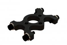OXY Ersatzteil Motorlagerbock in schwarz für OXY4