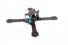 EGODRIFT Tribute True-X 6 Zoll Rahmen mit blauen Verbindern
