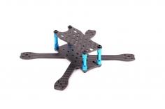 EGODRIFT BabyPRO 3 Zoll Rahmen aus carbon mit blauen Verbindern