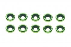Senkkopf finishing caps für M3 Senkkopfschrauben in grün 10 Stück