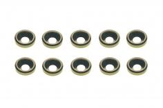 Senkkopf finishing caps für M3 Senkkopfschrauben in silber 10 Stück
