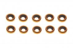 Senkkopf finishing caps für M3 Senkkopfschrauben in orange 10 Stück