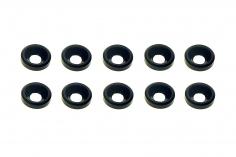 Senkkopf finishing caps für M3 Senkkopfschrauben in schwarz 10 Stück