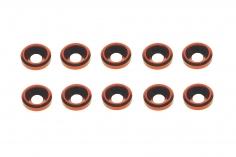 Senkkopf finishing caps für M3 Senkkopfschrauben in rot 10 Stück