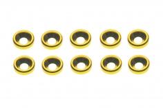 Senkkopf finishing caps für M3 Senkkopfschrauben in gelb 10 Stück