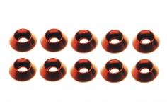 Inbus finishing caps für M3 Inbusschrauben in rot 10 Stück