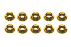 Inbus finishing caps für M3 Inbusschrauben in gelb 10 Stück