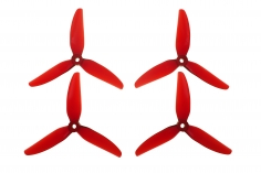 HQ Durable Prop Propeller 7X3,5X3V1S aus Poly Carbonate in rot transparent je 2CW+2CCW