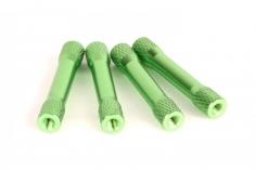 Abstandshalter M3 aus Alu in Bone Form in grün 4 Stück 35mm