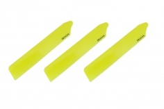 Rakonheli Dreiblattkopf Hauptrotorblätter in gelb 89mm für den Blade Nano CPs
