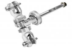 Rakonheli Heckset aus Aluminium in silber für Blade 180 CFX und 180 CFX Trio