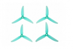 HQ Dreiblatt Propeller DP Durable Prop Poly Carbonat in blau transparent 5,1x5,1x3 je 2 Stück cw und ccw