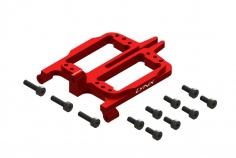 Lynx vordere (Roll) Servohalterung in rot für Goblin Fireball