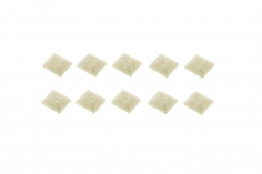 Kabelbinderhlater mit Soft Klebe Pad 12x12mm 10 Stück
