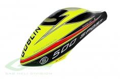 Kabinenhaube gelb/schwarz für Goblin 500 Sport Line