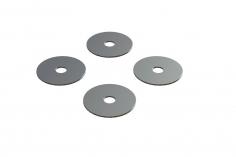 OXY Ersatzteil Hauptrotorblatthalter Distanzscheiben Set in silber für OXY4