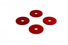 OXY Ersatzteil Hauptrotorblatthalter Distanzscheiben Set in rot für OXY4
