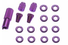 Schaltermuttern Set mit Stick´s und Werkzeug aus Alu eloxiert in violette