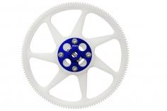 Rakonheli Hauptzahnrad aus Delrin 140 Zähne mit Alu Nabe in blau für Blade 250CFX