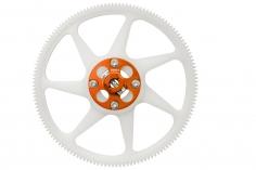 Rakonheli Hauptzahnrad aus Delrin 140 Zähne mit Alu Nabe in orange für Blade 250CFX
