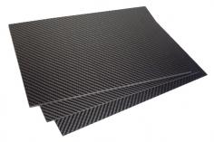 Vollcarbonplatte seidenmatt 30x20cm Stärke 0,5mm