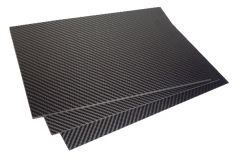 Vollcarbonplatte seidenmatt 30x20cm Stärke 1,0mm