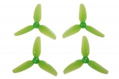 HQ Dreiblatt Propeller Durable Prop T3x3x3 aus Poly Carbonate in grün transparent je 2x cw und 2x ccw