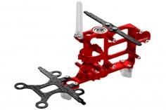 Rakonheli Hauptrahmen aus Carbon in rot für Blade mSR S