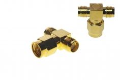 FPV Antennen Doppel Adapter von RPSMA (ohne Pin) auf 2x RPSMA (mit Pin)
