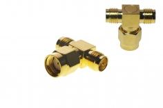 FPV Antennen Doppel Adapter von SMA (mit Pin) auf 2x SMA (ohne Pin)
