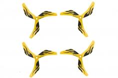 AZURE POWER RACE 3Blatt Propeller 5150 5,1x5x3 Zoll 2XCW + 2X CCW 5mm Bohrung in spezial gelb