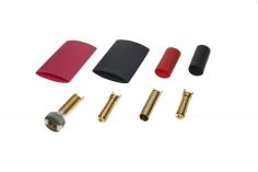 Antiblitz Goldverbinder 4mm mit Ring Stecker und Buchse