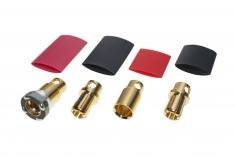 Antiblitz Goldverbinder 8mm mit Ring Stecker und Buchse