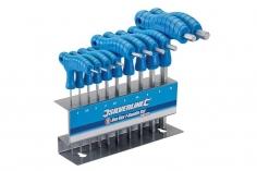 Innensechskant-Stiftschlüssel Set mit Quergriffen 10Teiliger Satz von 2–10mm
