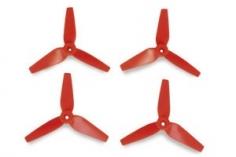 Graupner Luftschraube 3D-Prop 3,8x3,5 3-Blatt in rot/orange