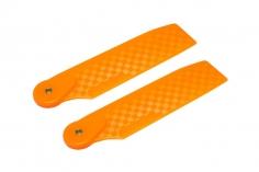 OXY Ersatzteil Heckrotorblätter orange aus Kunststoff im carbon Design 62mm für OXY4