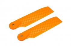 OXY Ersatzteil Heckrotorblätter orange aus Kunststoff im carbon Design 68mm für OXY4