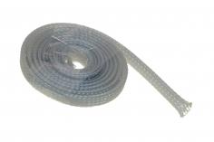 Geflechtschlauch 3-9 mm 1Meter in grau